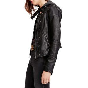 Free People New Dawn Vegan Faux Leather Jacket